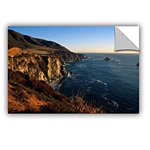 """ArtWall Kathy Yates 'Golden Glow On Big Sur' Appeelz Removable Graphic Wall Art, 16 by 24"""""""