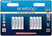 Panasonic 松下 Eneloop AAA 微型 750mAh Eneloop NiMH 即用型可充电电池 BK-4MCCE(8节经典款电池)