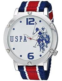 U.S. Polo Assn. 男式石英金属和尼龙休闲手表,多色(型号:USC57003)