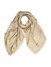 Burberry Monogram 丝绸和羊毛混纺围巾