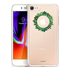 iPhone 8 手机壳,GoldSwift 透明手机壳,专为 iPhone 8、iPhone 7、iPhone 6S 和 iPhone 6 设计 Cactus Succulent Plant