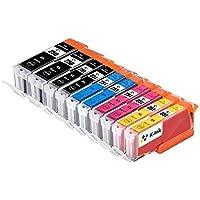 k-ink PGI 250CLI 251兼容替换墨盒适用于 MX 92210个装–2大号黑色2小号黑色2青色2黄色2洋红色