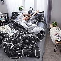 J.H.Longess 200G高克重圆网法莱绒四件套床笠款秋冬保暖珊瑚绒加厚床单四件套单双人床品套件 (LM.时尚达人, 床单款/1.5米/1.8米床被套(被套200*230cm)