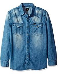 Lee Men's Heritage Western Long Sleeve Denim Shirt
