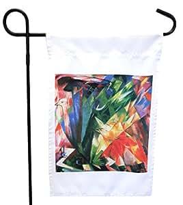 Rikki Knight Franz Marc Art Fowls House or Garden Flag with 27.94 x 27.94 cm 图像,30.48 x 45.72 cm