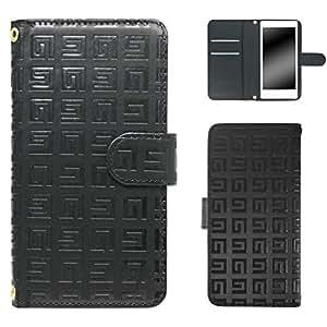 白色坚果回纹图案手机保护壳翻盖式 黑 15_ HTC Desire EYE 4G M910X