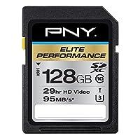 PNY 必恩威 高性能128GB高速SDXC类10 UHS-I,U3 95 MB /秒闪卡(P-SDX128U395-GE)