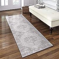Decomall Kalina 传统复古波西米亚做旧抽象小地毯,适用于客厅卧室