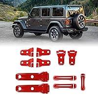 后挡板门把手盖门铰链盖罩铰链盖备用轮胎铰链盖盖适用于2018吉普牧马人 JL 2门 红色 COC-JL-2301
