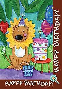 托兰 家居花园狮子蛋糕 31.75 x 45.72 cm 装饰儿童生日派对花园旗帜