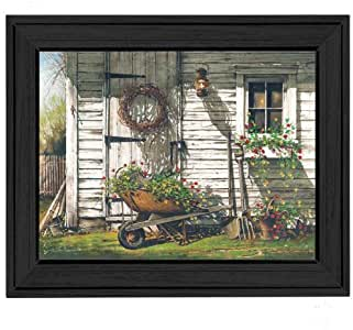 The Craft Room JR7-405 Spring Cleaning Framed Print by Artist John Rossini, 24 x 18 Inches