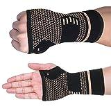 FITTOO 压缩护腕套手掌保护护手腕适用于腕管举重 S-L