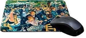 Rikki Knight Claude Monet Art Le Moulin de la Galette Design Lightning Series Gaming Mouse Pad (MPSQ-RK-3517)