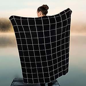 Abbott Collection 91-WARMTH/02 针织抱毯 黑白色 91-WARMTH-18