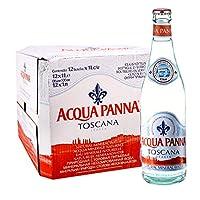 普娜(Acqua Panna)天然矿泉水1L*12瓶 意大利原装进口弱碱性玻璃瓶水