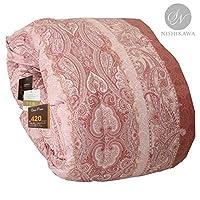 昭和西川 品质可靠 保暖蓬松羽绒被 日本制造 单人床 小双人床 双人床 粉色 クイーン 3011100118400