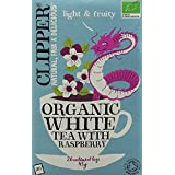 Clipper Organic White Tea with Raspberry 26 Teabags (Pack of 6, Total 156 Teabags)
