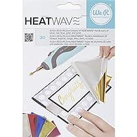 American Crafts 30 件 We R Memory Keepers Heatwave 笔箔,4 x 6,多色