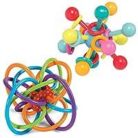 Manhattan Toy 324030 Winkel 摇铃和原子磨牙器婴儿套装
