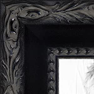 """带雕刻边缘的黑色画框。 3.81 cm 宽 黑色 20 x 23"""" 2WOMM330714-20x23"""