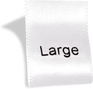 Wunderlabel 印花尺寸标签编织标签服装缝制服装面料面料丝带标签 Black on Black - 50 qty L BZSL001_HL00W_L_50