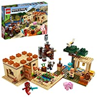 LEGO 21160 Minecraft The Illager Raid Village 建筑套装,配有拉格和凯伊,儿童冒险玩具