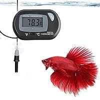 SunGrow 温度计带 LCD 显示屏,准确读取水温,含电池和 2 个吸盘,以便快速安装