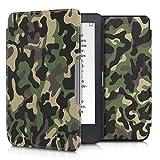 kwmobile Case for Kobo Clara HD - Book Style PU 皮革保护套 e-Reader Cover Folio Case - 白色/黑色45220.21_m001201 .camouflage dark green/dark brown/beige