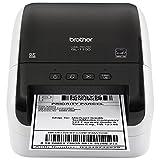Brother QL-1100 热直接标签打印机 1 卷 DK11247 带41张粘性标签,1 卷 DK22205 无限带