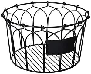 父母水果篮 黑色 Chi Round Basket