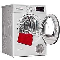 BOSCH 博世 WTW875600W 9公斤 原装进口干衣机 LED显示 触摸控制 热泵式 原装进口 快烘40分钟(白色)自动滚筒干衣机 家用热泵 烘干机 只可干衣