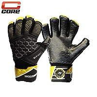 Soccermax Core Youth & Adult Goal Keeper 乳胶手套负面切割强力抓握带可拆卸手指保存高性能专业水平目标保护手套 GK 超值手套足球