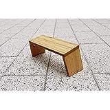 STOOLYOGA 便携式冥想凳,成品竹子、折叠腿、低座椅、跪坐冥想凳,适用于瑜伽、祈祷和冥想 - 美国制造