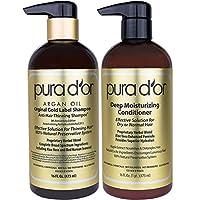 PURA D'OR 原始金标签洗发水和护发素套装