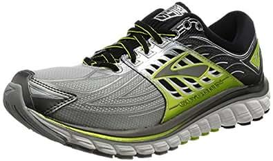 [布鲁克斯跑步鞋男士] BROOKS甘油14 1102361D022 022 (银/黑/酸橙色/US8)