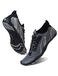 男女水鞋赤脚速干水袜户外运动鞋适合皮划艇、划船、徒步旅行、冲浪、散步 M-gray 5.5 Women/4 Men