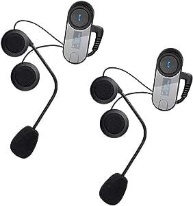 T-COMSC 蓝牙对讲耳机 800M 全双工无线摩托车对讲耳机 2组