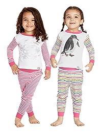 Eric Carle 儿童幼儿雪花和企鹅书棉质连体睡衣4件套