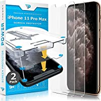 Power Theory 与 iPhone 11 Pro Max 屏幕保护膜兼容 - 适用于 Apple iPhone 11 Max Pro 的钢化玻璃膜[2 件装][适用于手机套]