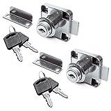 SO-TECH® 家具锁 圆柱锁体 转舌锁 2 Stück mit je 2 Schlüssel