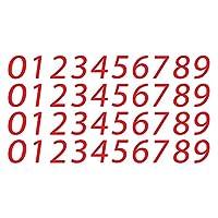 0-9 数字现代乙烯基贴纸贴花用于信箱邮箱地址房间门窗外 2.54 厘米 | 红色