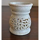 Hand Carved Oil Diffuser Made of Soapstone with Tea Light Holder by StarZebra - Aromatherapy