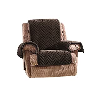 SureFit 绗缝人造毛皮躺椅套