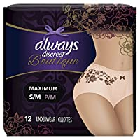 Always Discreet Boutique Incontinence, Maximum Protection, Small/Medium,
