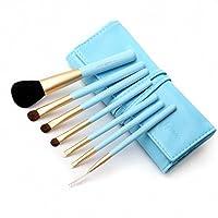 Cerro Qreen 7支化妆刷套装 初学化妆必备套刷 蓝色