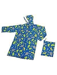 泰恩 书包可轻松放入的 KIDS用雨衣 蓝色 120cm 7127