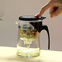 易信 飘逸杯耐热玻璃泡茶壶旅行茶具220ml 飘逸杯