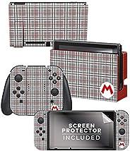 控制器装备正品 & 官方**马里奥 - 马里奥格子 - 任天堂开关皮肤和屏幕保护膜套装 - 任
