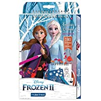 Make It Real - Disney 冰雪奇缘 2 时尚设计素描本迪士尼时尚设计女孩涂色本包括艾莎冰雪奇缘 2 素描页、模板、贴纸和设计指南