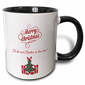 brooklynmeme 圣诞–Merry Christmas TO THE BEST BROTHER IN Law EVER–马克杯 黑色/白色 11 oz